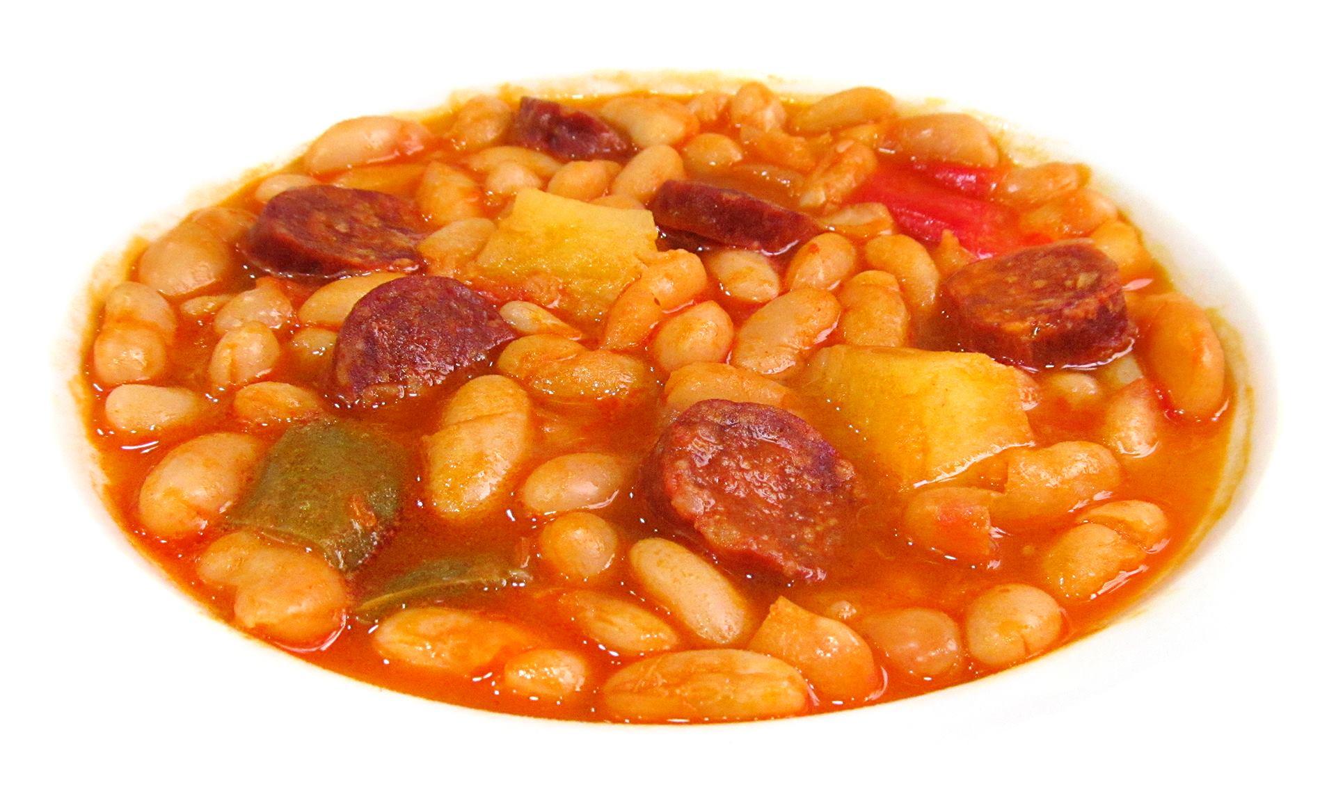 Jud as blancas con chorizo electrodom sticos brandt - Judias con chorizo y patatas ...
