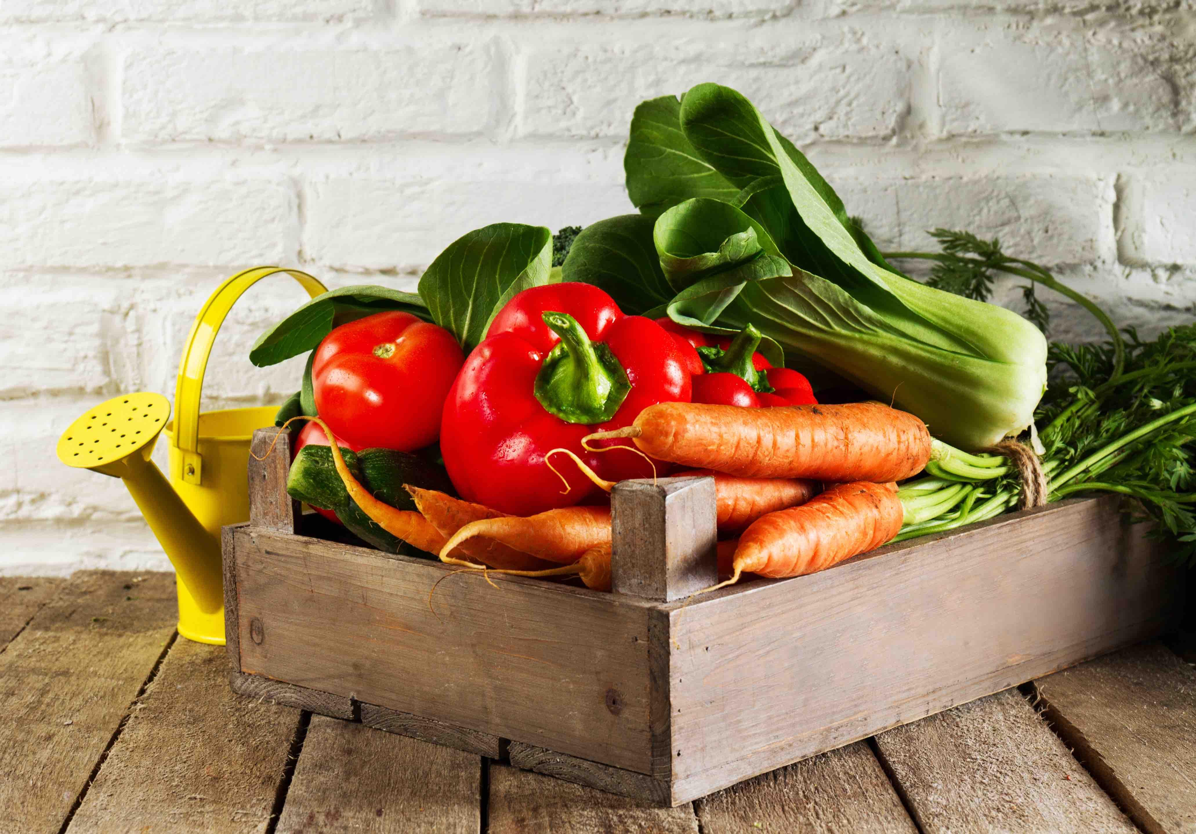 Caja-verduras
