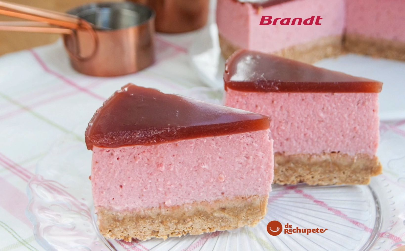Receta Exprés Brandt: Tarta de fresas sin horno