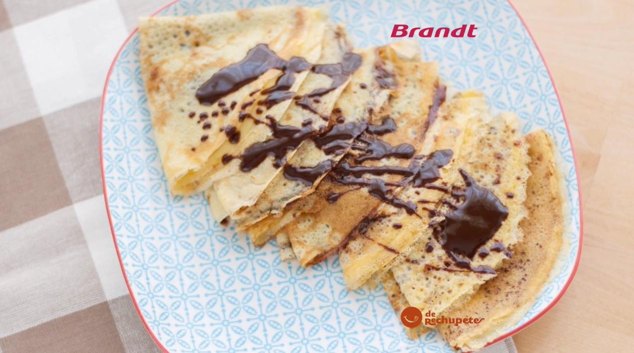 Receta Exprés Brandt: Filloas con chocolate