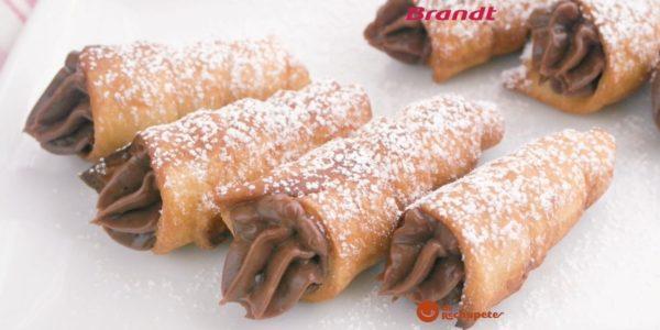 Receta Exprés Brandt: Cañas fritas con chocolate