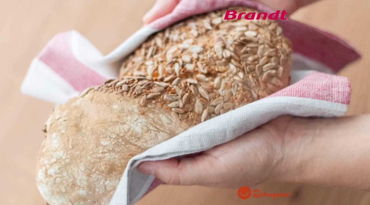 Receta Exprés Brandt: Pan de semillas casero