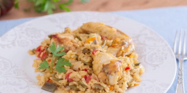 Receta Exprés Brandt: Arroz con pollo y verduras