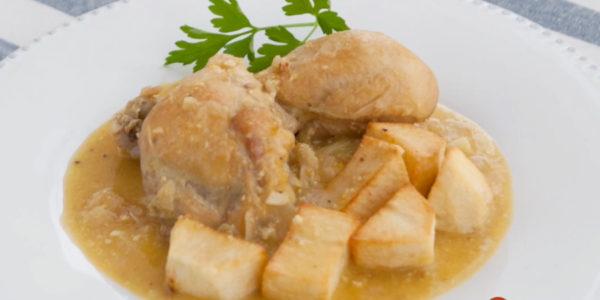 Receta Exprés Brandt: Pollo en pepitoria