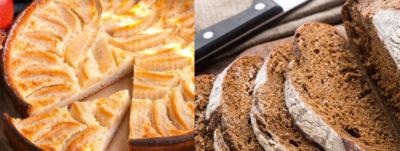 Tarta de manzana y pan de centeno
