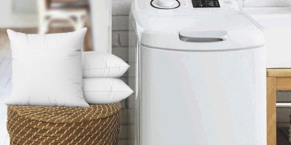 Lavadora carga superior Brandt y almohadas
