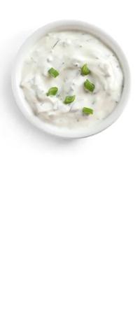 Cuenco con salsa de yogur