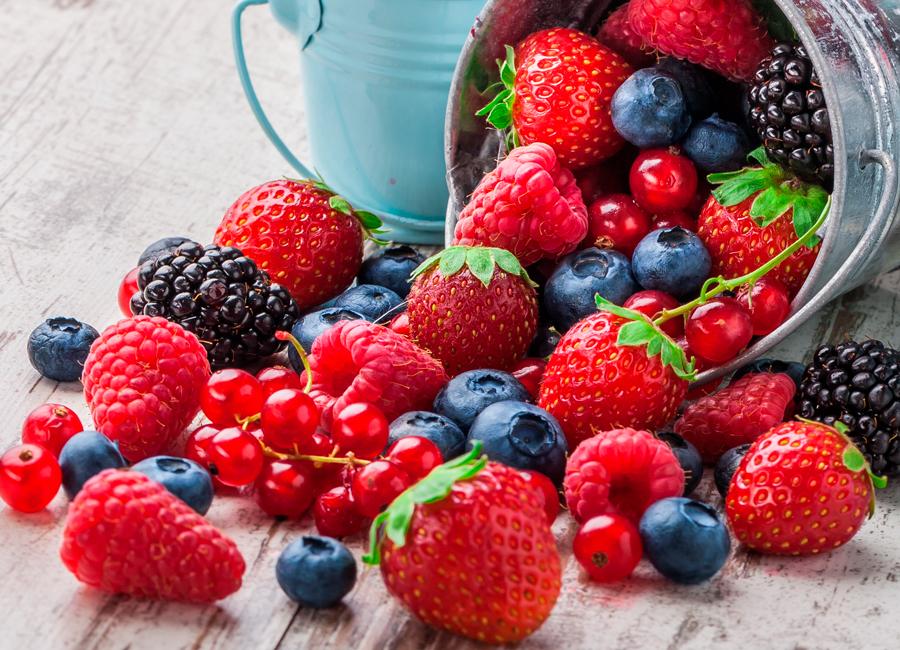 Frutos del bosque y frutos rojos