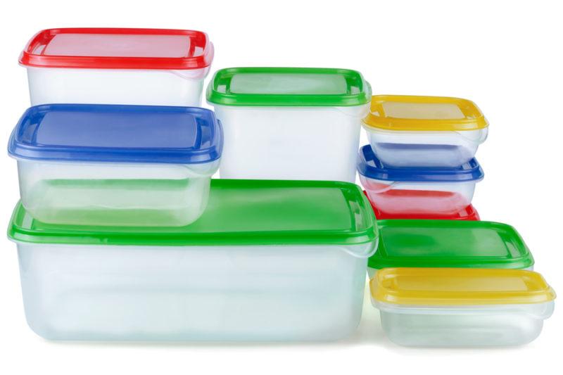 Tuppers de plástico
